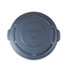 "<strong>Rubbermaid® Commercial</strong><br />Flat Top Lid for 20 gal Round BRUTE Containers, 19.88"" diameter, Gray"