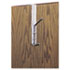 <strong>Safco®</strong><br />Over-The-Door Double Coat Hook, Chrome-Plated Steel, Satin Aluminum Base