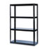 <strong>Safco®</strong><br />Boltless Steel Shelving, Five-Shelf, 48w x 18d x 72h, Black