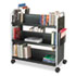 <strong>Safco®</strong><br />Scoot Book Cart, Six-Shelf, 41.25w x 17.75d x 41.25h, Black