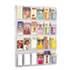 <strong>Safco®</strong><br />Reveal Clear Literature Displays, 24 Compartments, 30w x 2d x 41h, Clear