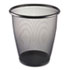 <strong>Safco®</strong><br />Onyx Round Mesh Wastebasket, Steel Mesh, 5 gal, Black
