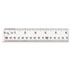"<strong>Westcott®</strong><br />See Through Acrylic Ruler, 12"", Clear"