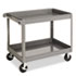 <strong>Tennsco</strong><br />Two-Shelf Metal Cart, 24w x 36d x 32h, Gray
