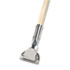 "<strong>Boardwalk®</strong><br />Clip-On Dust Mop Handle, Lacquered Wood, Swivel Head, 1"" Dia. x 60in Long"