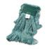 "<strong>Boardwalk®</strong><br />Super Loop Wet Mop Head, Cotton/Synthetic Fiber, 5"" Headband, Medium Size, Green, 12/Carton"