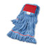 "<strong>Boardwalk®</strong><br />Super Loop Wet Mop Head, Cotton/Synthetic Fiber, 5"" Headband, Large Size, Blue"