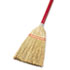 "<strong>Boardwalk®</strong><br />Lobby/Toy Broom, Corn Fiber Bristles, 39"" Wood Handle, Red/Yellow"