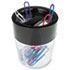 <strong>Universal®</strong><br />Magnetic Clip Dispenser, Two Compartments, Plastic, 2 1/2 x 2 1/2 x 3