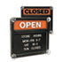 <strong>Headline® Sign</strong><br />Double-Sided Open/Closed Sign w/Plastic Push Characters, 14 3/8 x 12 3/8
