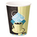 Duo Shield Insulated Paper Hot Cups, 12oz, Tuscan, Chocolate/Blue/Beige, 600/Ct
