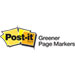 Post-it® Greener Page Markers Logo
