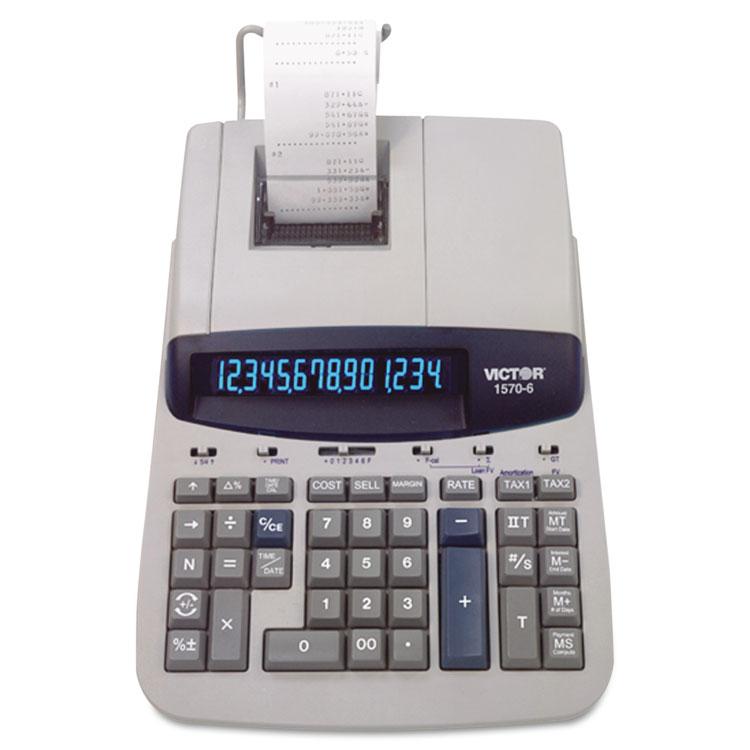 1570-6 Two-Color Ribbon Printing Calculator, Black/Red Print, 5.2 Lines/Sec