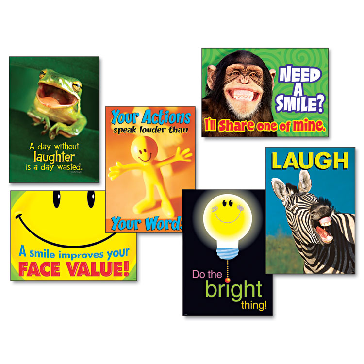 """Picture of """"Attitude & Smiles"""" ARGUS Poster Combo Pack, 6 Posters/Pack"""