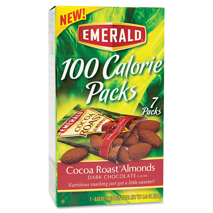 Picture of 100 Calorie Pack Dark Chocolate Cocoa Roast Almonds, .63oz Packs, 7/Box
