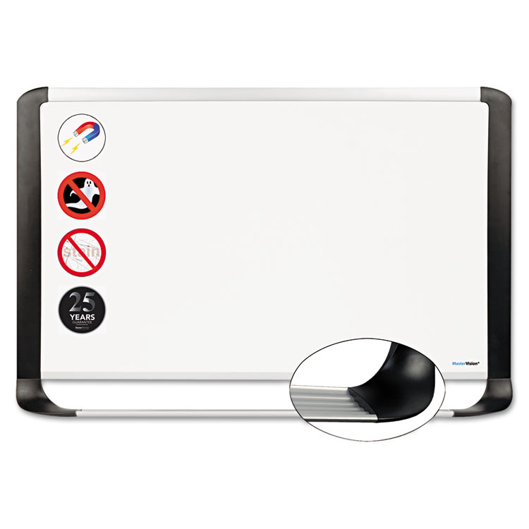 Picture of Porcelain Magnetic Dry Erase Board, 29.5 x 48, White/Silver