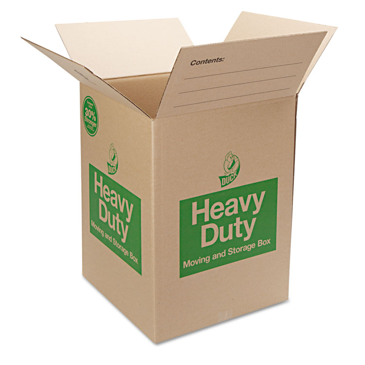 Picture of Heavy-Duty Moving/Storage Boxes, 18l x 18w x 24h, Brown