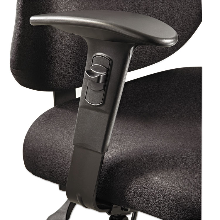 Picture of Height/Width-Adjustable T-Pad Arms for Alday 24/7 Task Chair, Black, 1 Pair