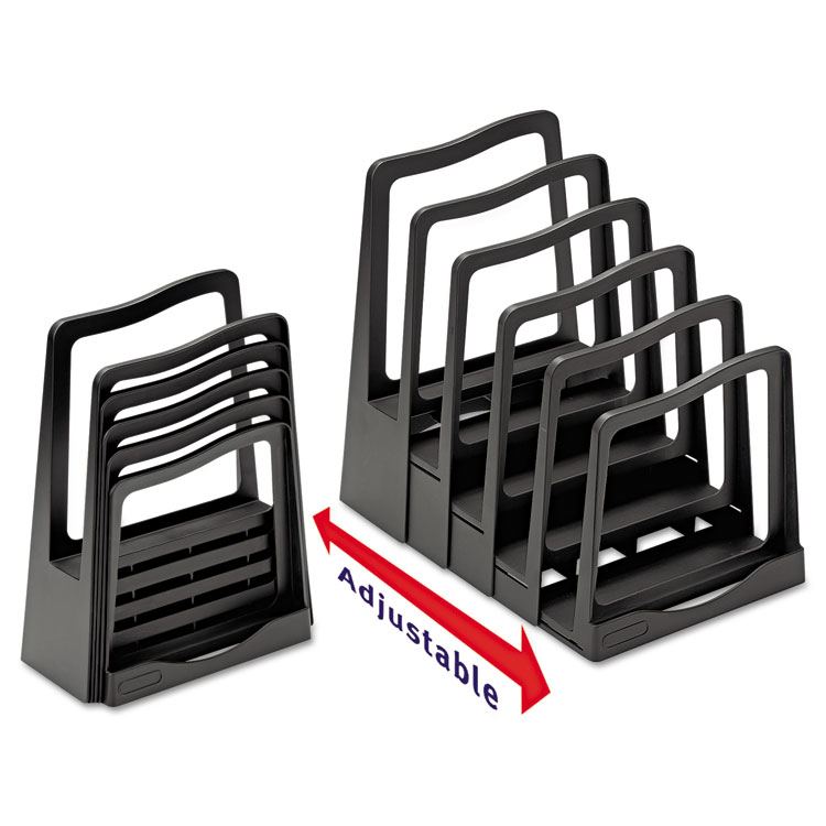 Picture of Adjustable File Rack, Five Sections, 8 x 10 1/2 x 11 1/2, Black