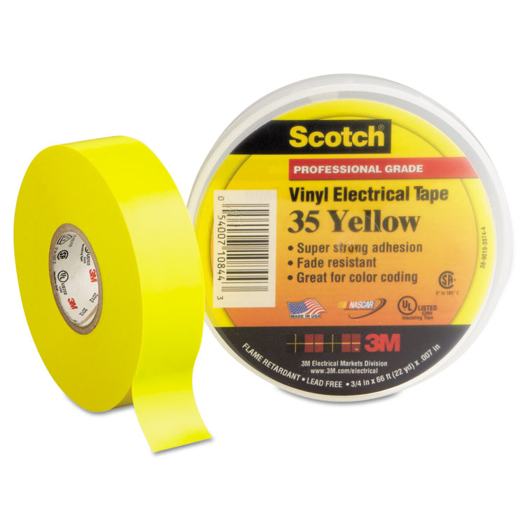 Scotch 35 Vinyl Electrical Color Coding Tape By 3m Mmm10844