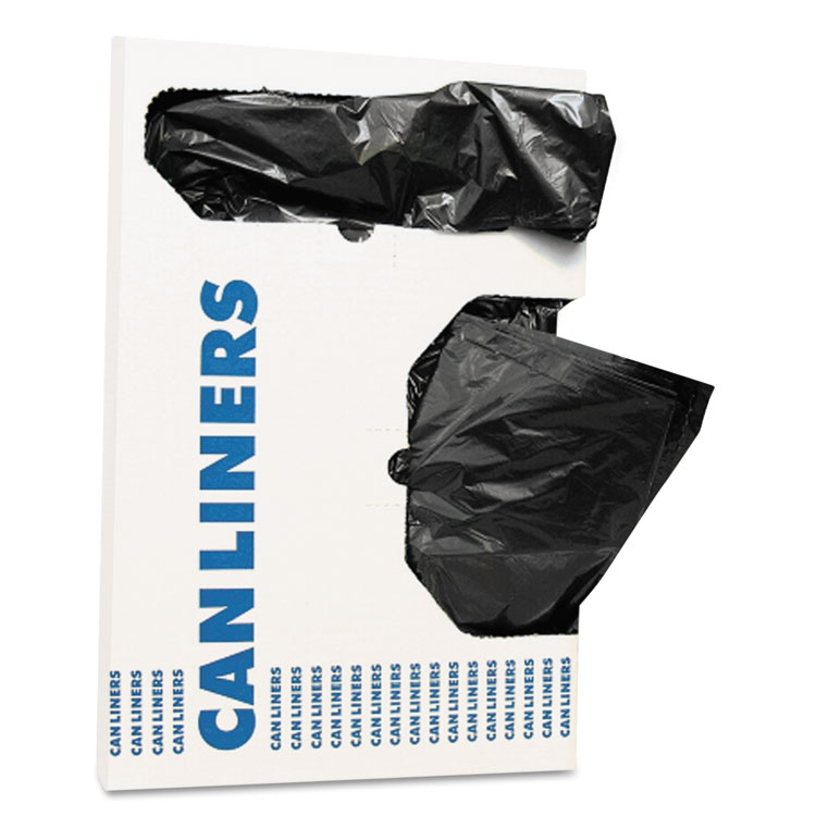 """Picture of Can Liners, 12-16 gal, Accufit , 1 mil, Black, 24"""" x 32"""", 250/Carton (HERH4832TKX01)"""