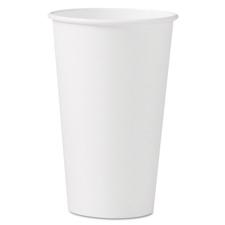 Picture of Polycoated Hot Paper Cups, 16 Oz, White