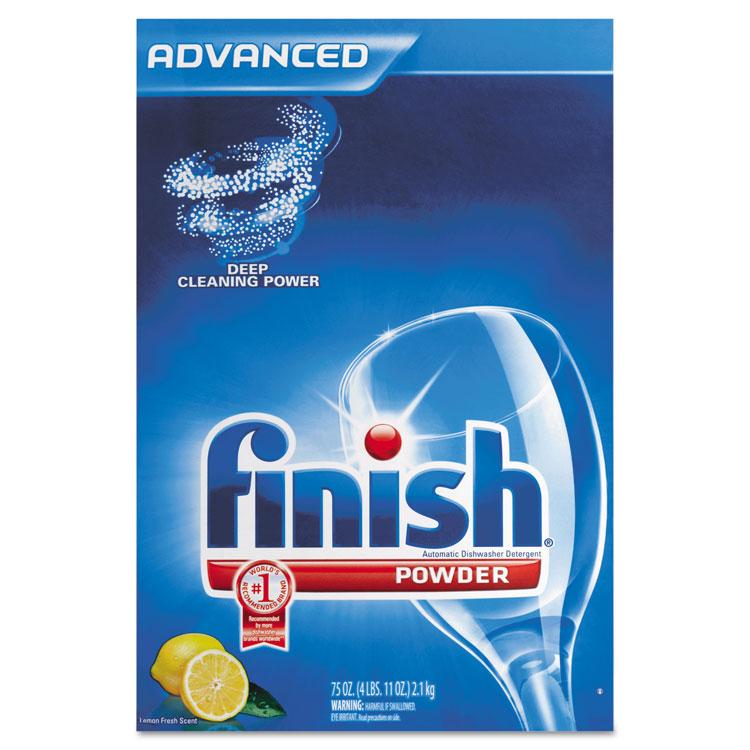 Automatic Dishwasher Detergent, Lemon Scent, Powder, 2.3 qt. Box, 6 Boxes/Ct