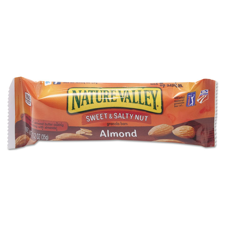 Picture of Nature Valley Granola Bars, Sweet & Salty Nut Almond Cereal, 1.2oz Bar, 16/Box