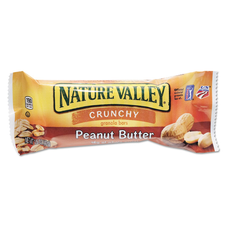 Picture of Nature Valley Granola Bars, Peanut Butter Cereal, 1.5oz Bar, 18/Box