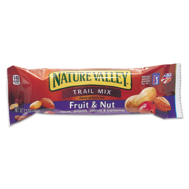 Picture of Nature Valley Granola Bars, Chewy Trail Mix Cereal, 1.2oz Bar, 16/Box