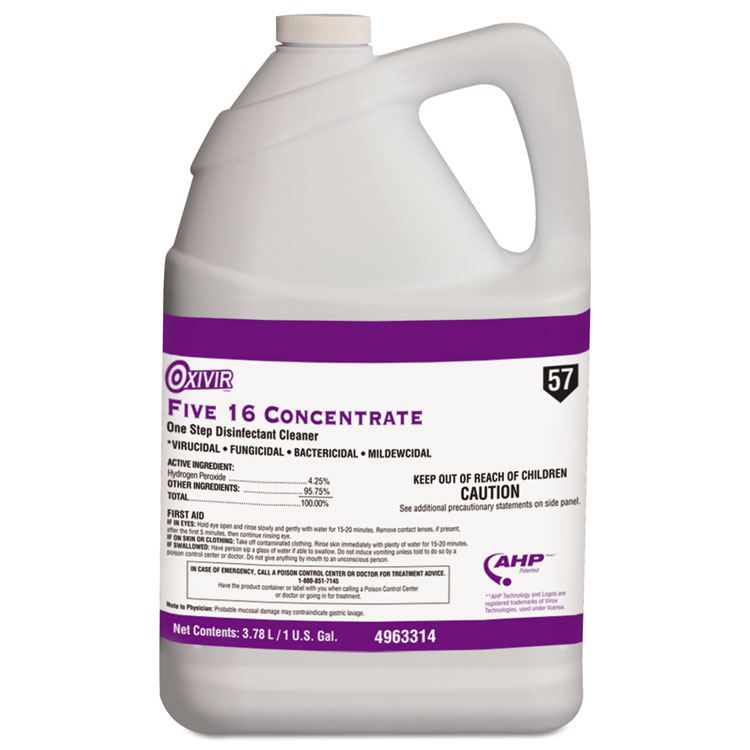 Picture of Five 16 One-Step Disinfectant Cleaner, 1gal Bottle, 4/Carton