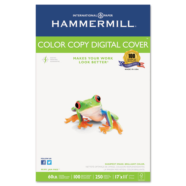 Picture of Copier Digital Cover Stock, 60 lbs., 17 x 11, Photo White, 250 Sheets