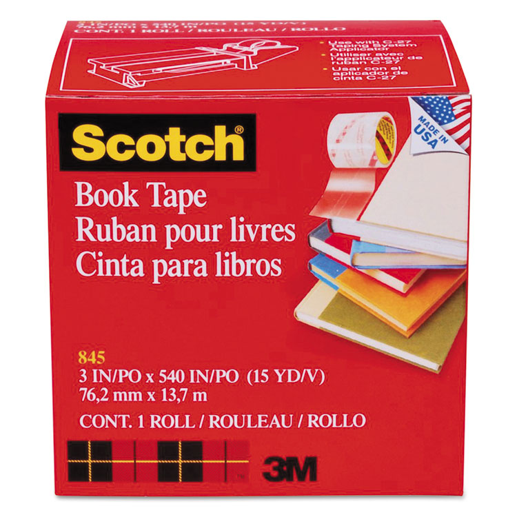 """Picture of Book Repair Tape, 3"""" x 15yds, 3"""" Core, Clear"""