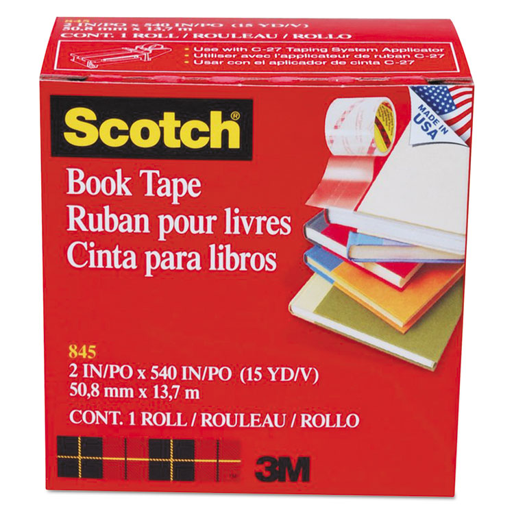 """Picture of Book Repair Tape, 2"""" x 15yds, 3"""" Core, Clear"""