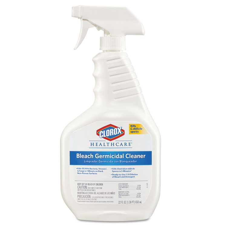 Picture of Clorox® Healthcare® Bleach Germicidal Cleaner, 22oz Spray Bottle