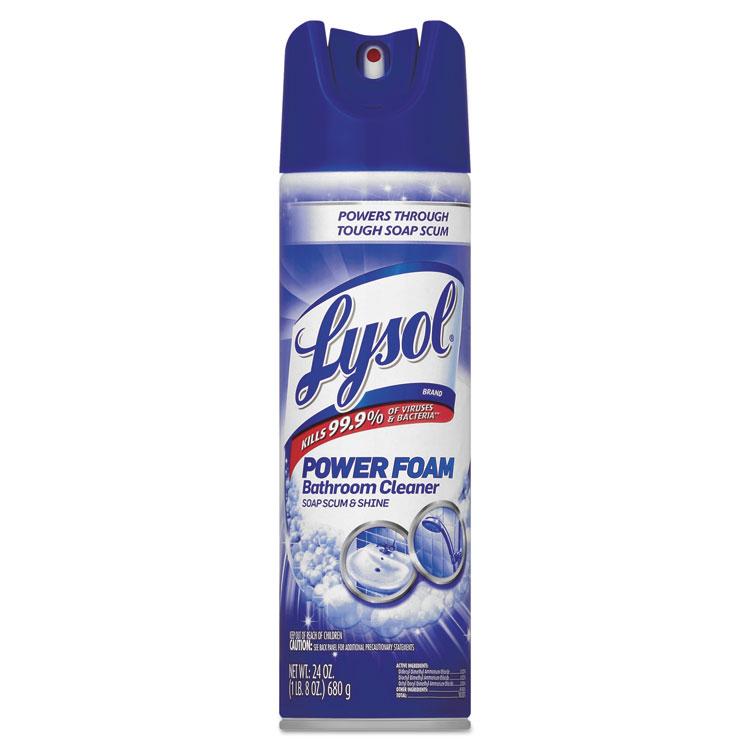 Power Foam Bathroom Cleaner, 24oz Aerosol