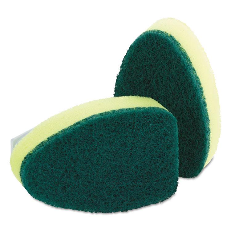 Refill Sponge Heads for Heavy-Duty Dishwand, 2/Pack