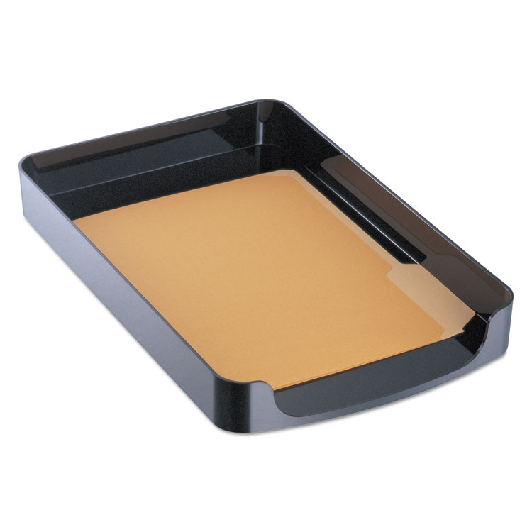 Picture of 2200 Series Front-Loading Desk Tray, Single Tier, Plastic, Legal, Black