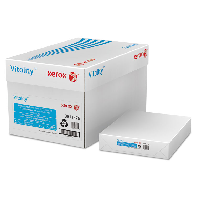 Picture of Vitality 100% Recycled Multipurpose Printer Paper, Letter, White 5,000 Sheets