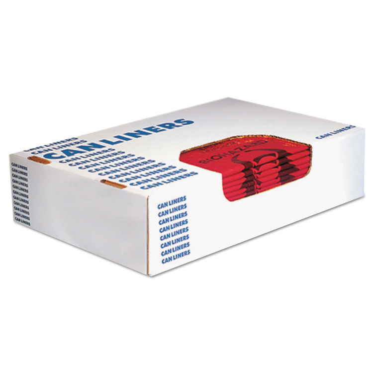 Picture of Trash Bag, Can Liner, Bio Hazard, Heritage Healthcare Biohazard Printed Can Liners, 7-10 Gal, 1.3mil, 24 X 23, Red,500/ct,
