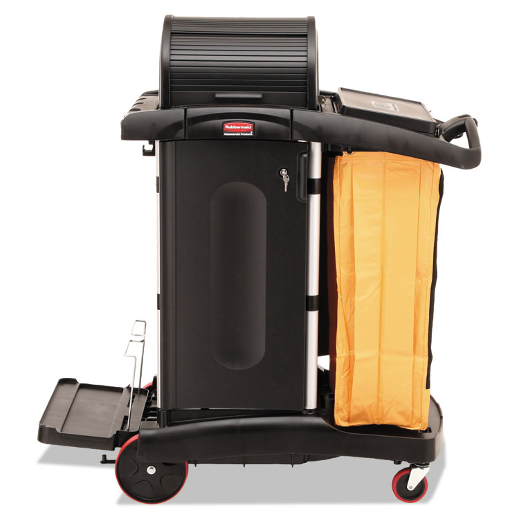 Picture of High-Security Healthcare Cleaning Cart, 22w x 48-1/4d x 53-1/2h, Black