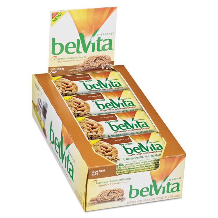 Picture of belVita Breakfast Biscuits, 1.76 oz Pack, Golden Oat, 64/Carton