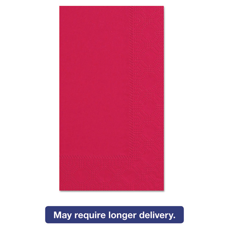 Picture of Dinner Napkins, 2-Ply, 15 x 17, Red, 1000/Carton