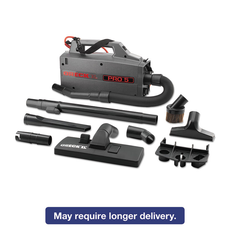 Picture of Commercial XL Pro 5 Canister Vacuum, 120 V, Gray, 5 1/4 x 8 x 13 1/2