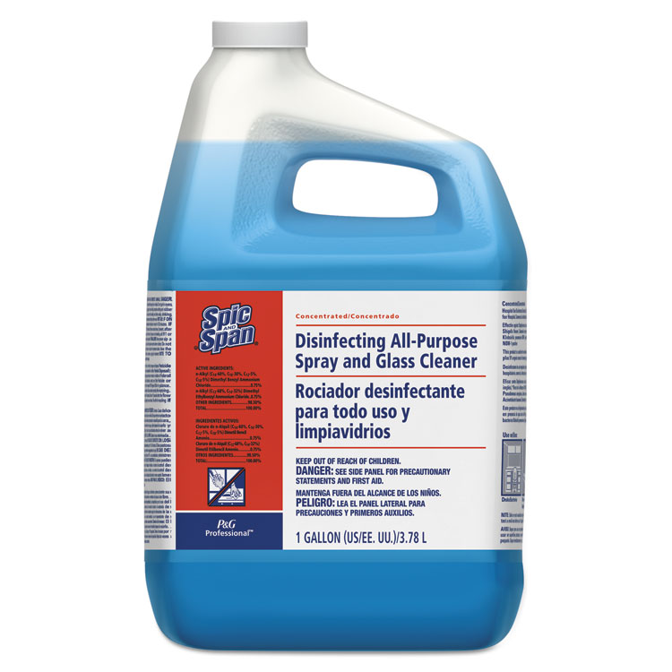 Picture of Disinfecting All-Purpose Spray and Glass Cleaner,  Spic and Span®, Concentrated, 1gal, 2/Carton (