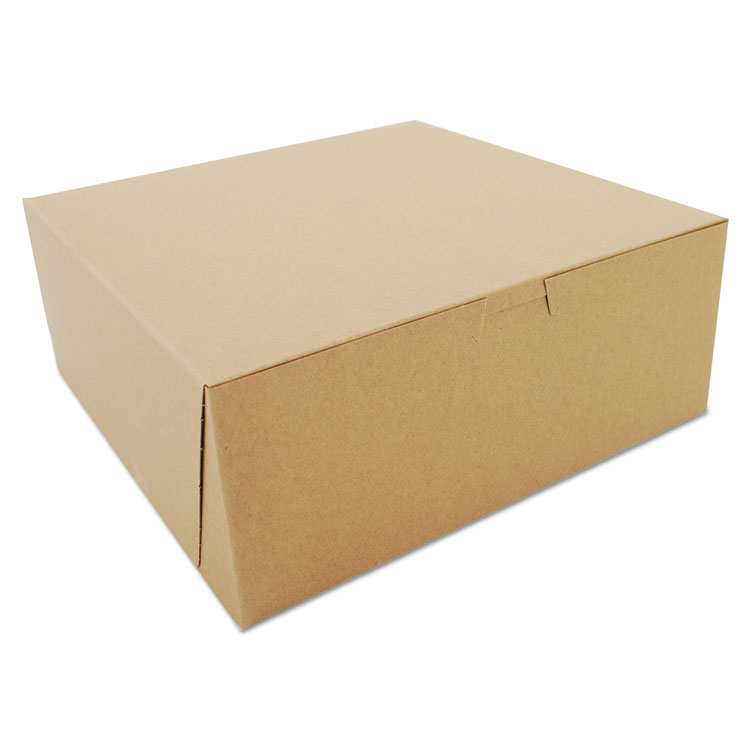 Picture of Bakery Boxes, Kraft, Paperboard, 10 X 10 X 4, 100/bundle
