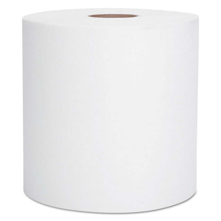 "Picture of Hard Roll Towels, 1.5"" Core, 8 x 400ft, White, 12 Rolls/Carton"