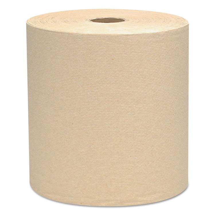 "Picture of Hard Roll Towels, 1.5"" Core, 8 x 800ft, Natural, 12 Rolls/Carton"