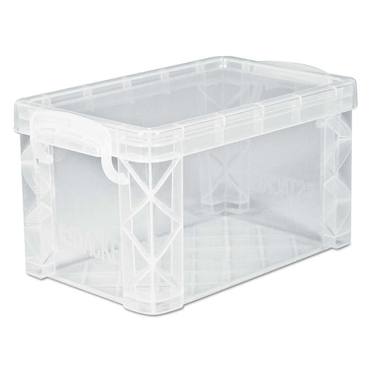 Picture of Super Stacker Storage Boxes, Hold 500 4 x 6 Cards, Plastic, Clear