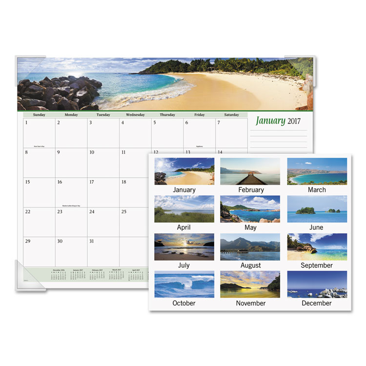 Picture of Seascape Panoramic Desk Pad, 22 x 17